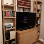 RIFT SAWN OAK BOOKCASE/MEDIA